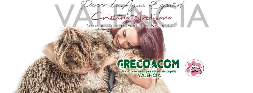 20180520 Cartel Blog GRECOACOM MasterClass Perro Aguas Español en Valencia imparte Cristina Ardisana 851x315